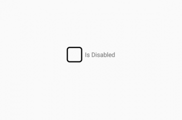 Checkbox disabled